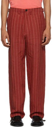 Nicholas Daley Red and Yellow Linen 70s Trousers