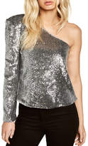 Bardot Sequin One-Shoulder Top