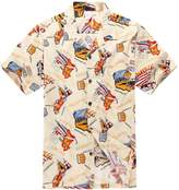 Palm Wave Men's Hawaiian Shirt Aloha Shirt Luau Shirt 3XL