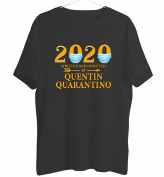 Generic Funny T Shirts 2020 Written and Directed by Quentin Quarantino Pandemic Virus Crew Neck Short Sleeve Gifts