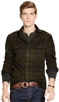 Polo Ralph Lauren Suede-Elbow Plaid Twill Shirt