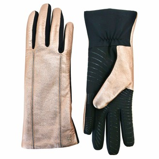 U R Powered Womens Leather & Stretch Touchscreen Gloves