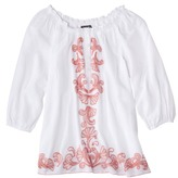 The Webster at Target® Embroidered Gauze Top - White