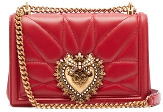 Dolce & Gabbana Devotion Quilted-leather Cross-body Bag - Red