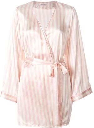 Morgan Lane Langley silk striped print robe