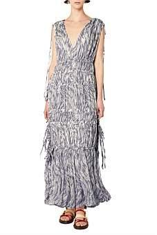 Lee Mathews Zola Sleeveless V Neck Dress
