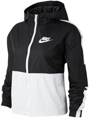 Nike Swoosh Colorblock Zip Front Hooded Jacket
