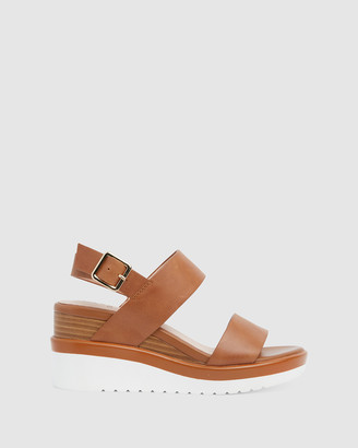 Jane Debster - Women's Brown Wedge Sandals - Indiana - Size One Size, 37 at The Iconic