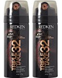 Redken Triple Take 32 Extreme High Hold Hairspray, 4 ounces (2-pack)