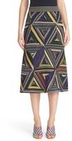 Missoni Metallic Knit Patchwork Midi Skirt