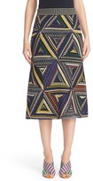 Missoni Women's Metallic Knit Patchwork Midi Skirt