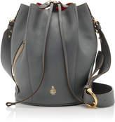 Mark Cross Large Leather Drawstring Bucket Bag