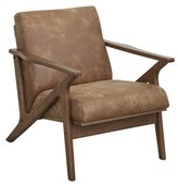 Chrisman Armchair Union Rustic Upholstery Color: Camel Brown Faux Leather