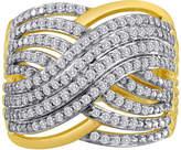 JCPenney FINE JEWELRY 1/2 CT. T.W. Diamond Crisscross Ring