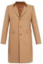 Alexander Mcqueen Contrast-collar Camel-hair Twill Coat