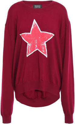 Markus Lupfer Joey Sequined Intarsia Wool Sweater