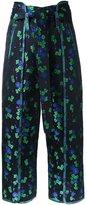 G.V.G.V. oriental floral jacquard trousers