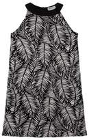 O'Neill Black and White Palm Print Dress
