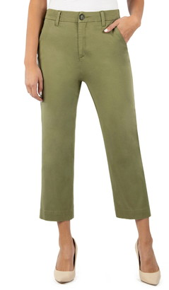 KUT from the Kloth Harmony Stretch Cotton Crop Trousers