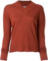 Suzusan v-neck knitted jumper
