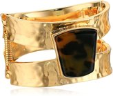 "Robert Lee Morris Tenacious "" Geometric Stone Hinged Bangle Bracelet"