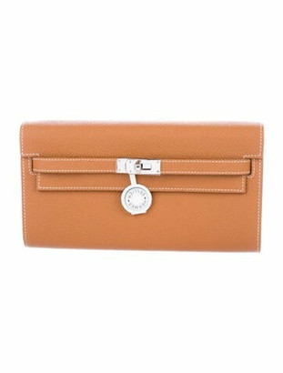 Hermes 2020 Epsom Kelly Wallet To Go w/ Tags Gold