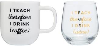 Indigo I Teach Therefore Coffee And Wine Set
