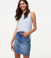 LOFT Step Hem Denim Skirt