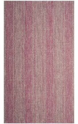 """MistanaTM Myers Light Gray/Fuchsia Indoor/Outdoor Area Rug Mistana Rug Size: Rectangle 2'7"""" x 5'"""