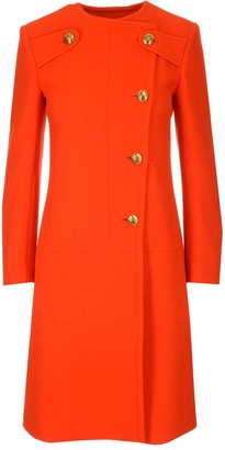 Givenchy Off-Centered Round-Neck Coat