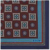 Eton Medallion Wool And Silk Pocket Square