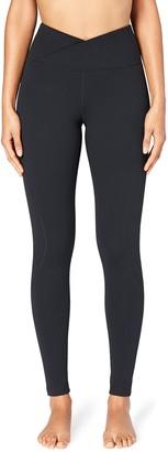 Core 10 Amazon Brand Womens Build Your Own Yoga Pant - Cross Waist Full-Length Legging M (Short Inseam)