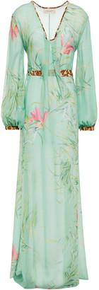 Adriana Degreas Printed Silk-georgette Maxi Dress