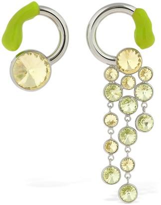 Sunnei Crystal & Rubber Asymmetrical Earrings