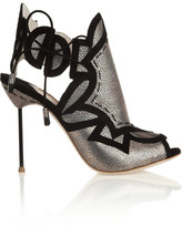 Sophia Webster Cutout metallic leather sandals