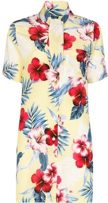Les Rêveries Tropical Flower Print Dress