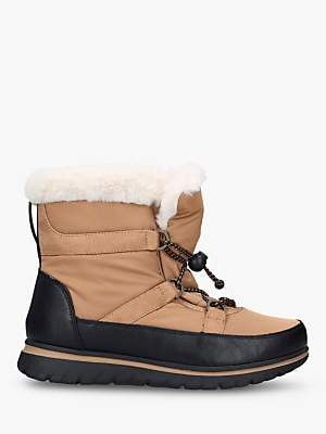 Carvela Comfort Ruby Drawstring Snow Boots, Brown Tan