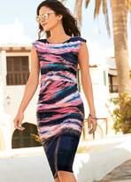Kaleidoscope Watercoloured Ruched Dress