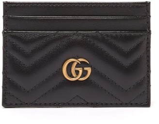 Gucci GG Marmont Leather Cardholder - Black