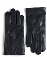Black Brown 1826 Cashmere Lined Leather Gloves