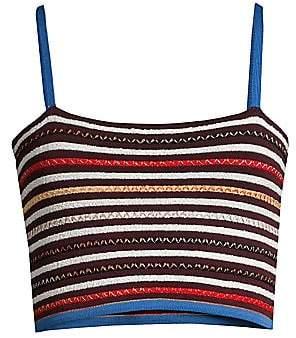 M Missoni Women's Striped Knit Cropped Tank Top