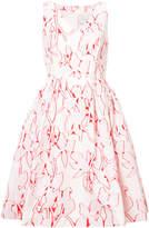 Carolina Herrera printed flared dress