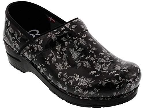 Women's Shoes 2019 Latest Design Sanita Patent Fresco Print Professional Clog Size 42