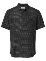 Jeanswest Ignatius Short Sleeve Printed Shirt-Black-S