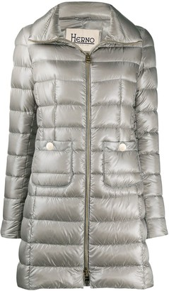 Herno Quitled Zipped Coat