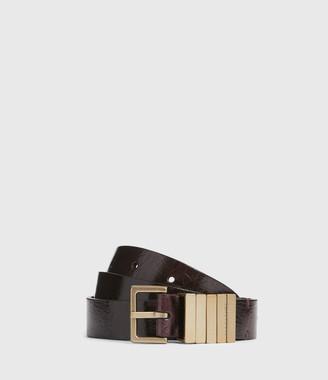 AllSaints Jet Skinny Leather Belt