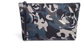 Alexander McQueen Camouflage and skull print medium nylon pouch