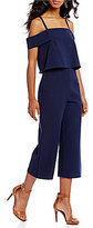 Gianni Bini Sandra Culoutte Off the Shoulder Jumpsuit