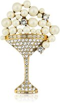 """Marc Jacobs Resort 2016"""" Cream/Antique Gold Martini Brooches and Pin"""