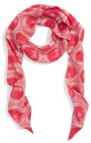 Sole Society Women's Watermelon Print Skinny Scarf